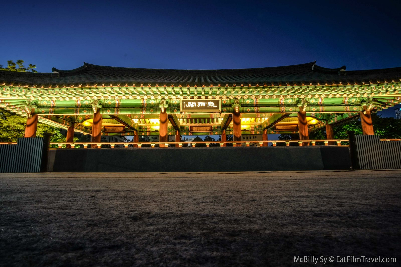Night shots in Namsangol Hanok Village