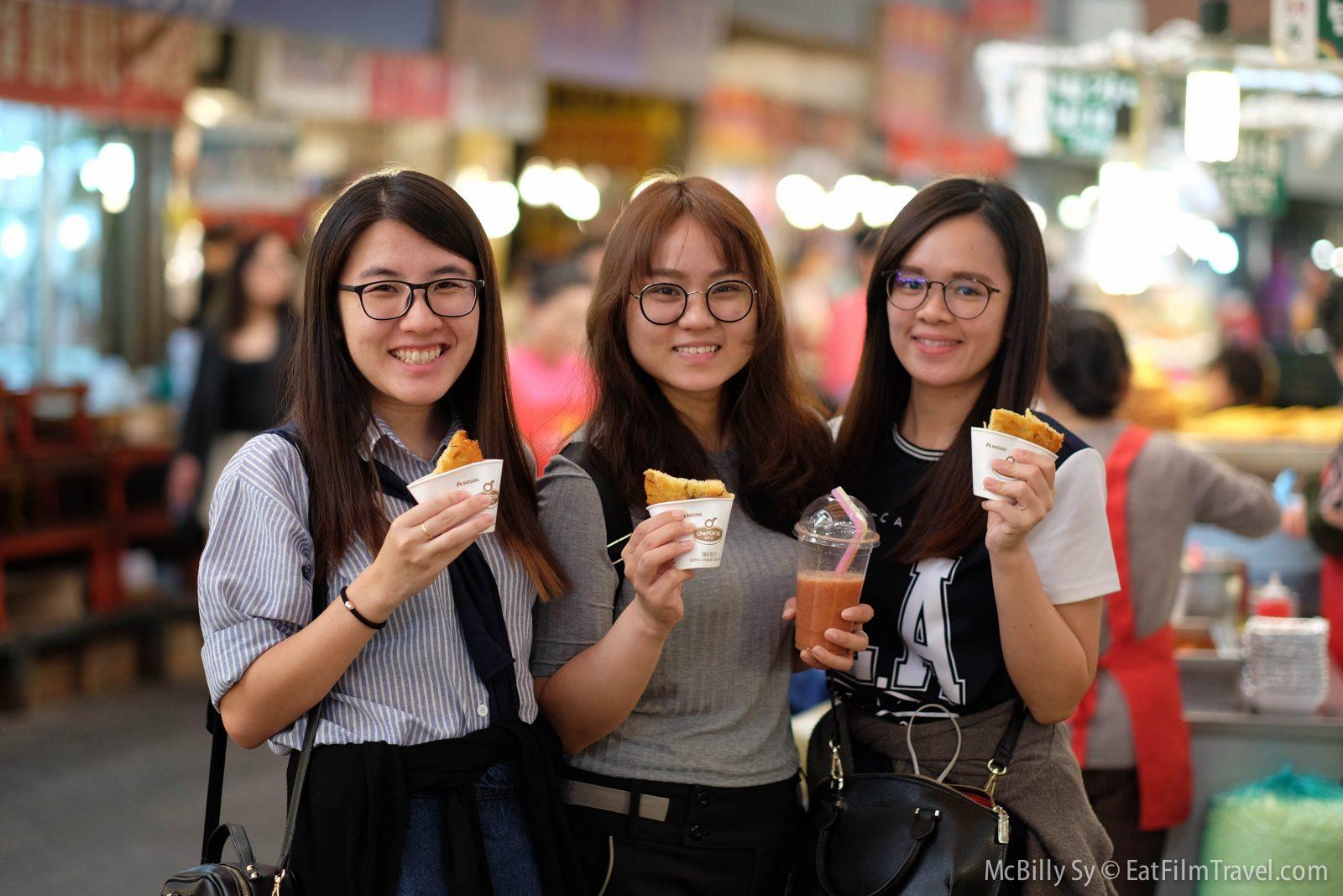 New Friends in Gwangjang Market