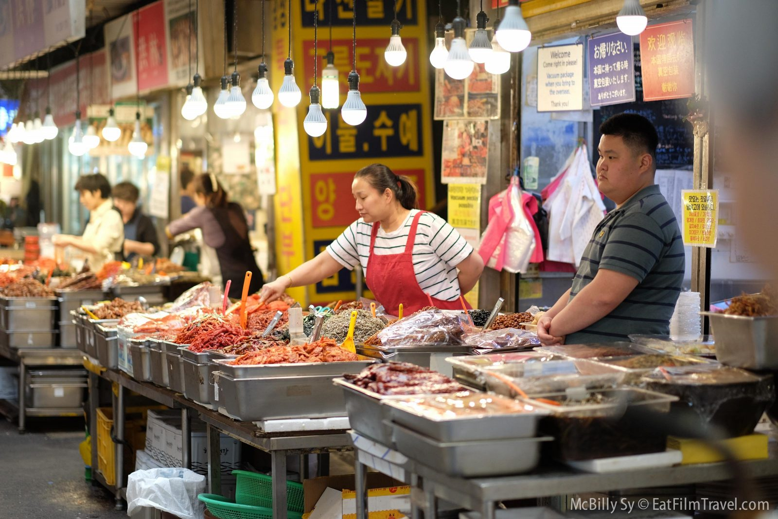 Food options in Gwangjang Market