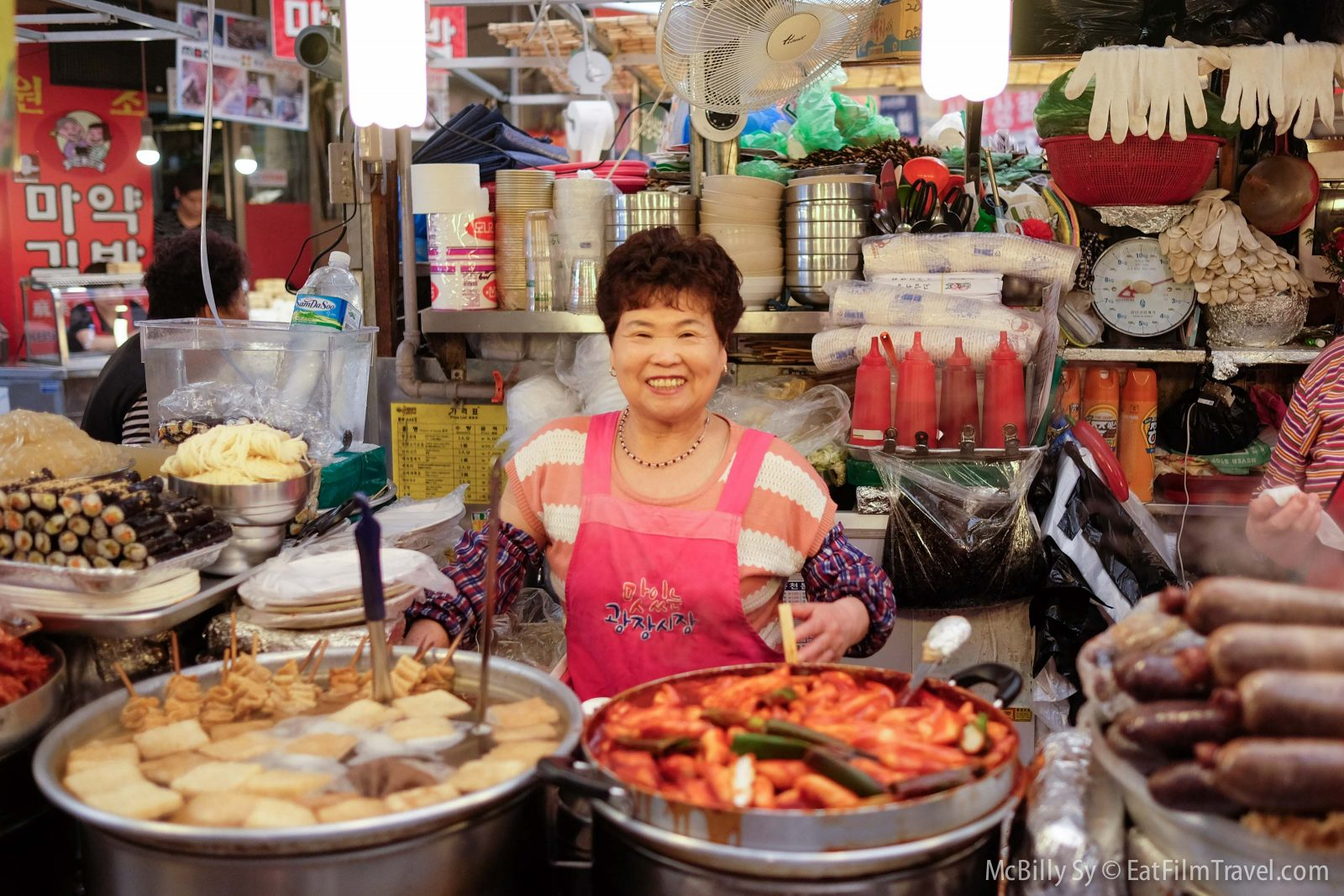 Fresh food in Gwangjang Market