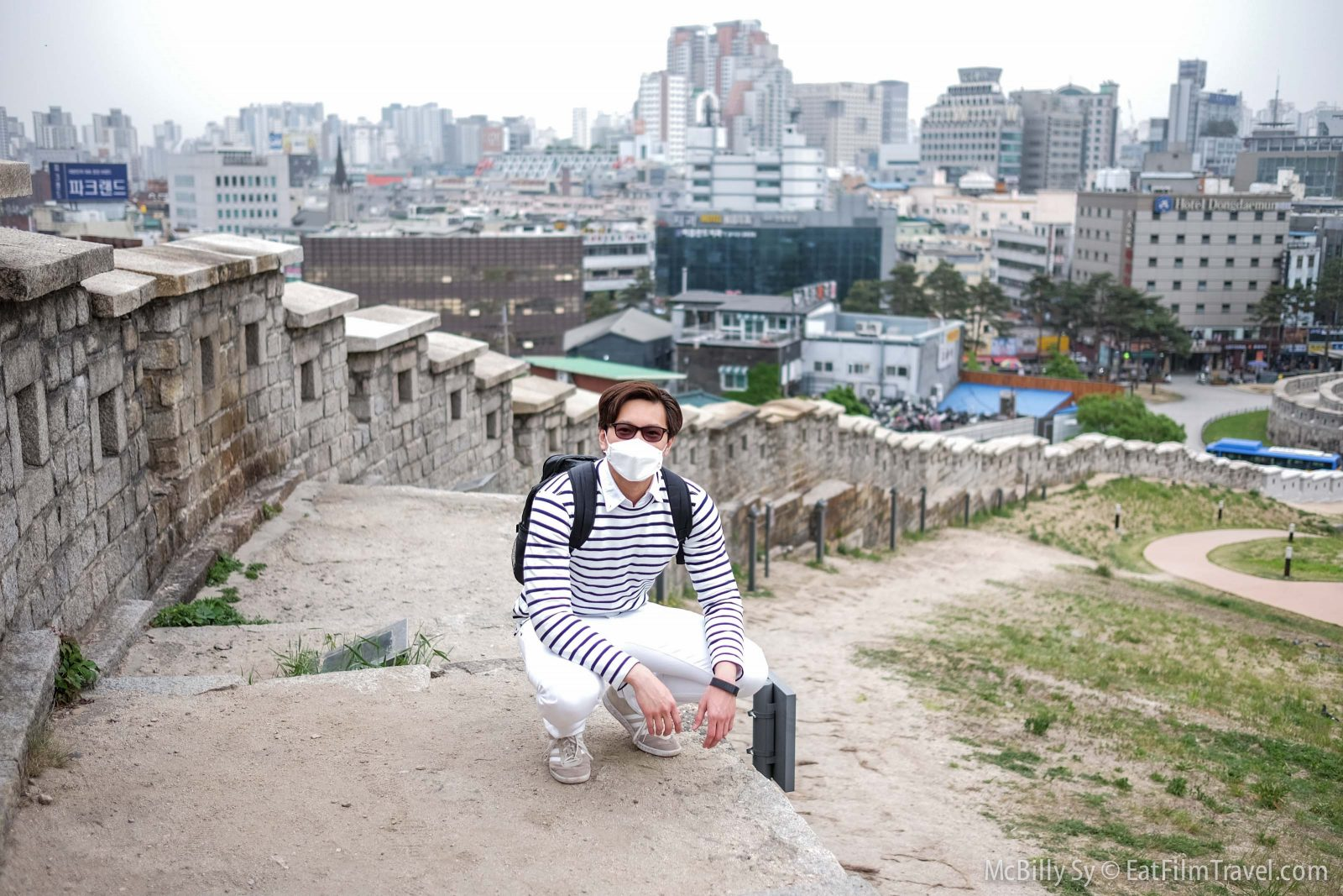 Hiking up the Seoul City Wall