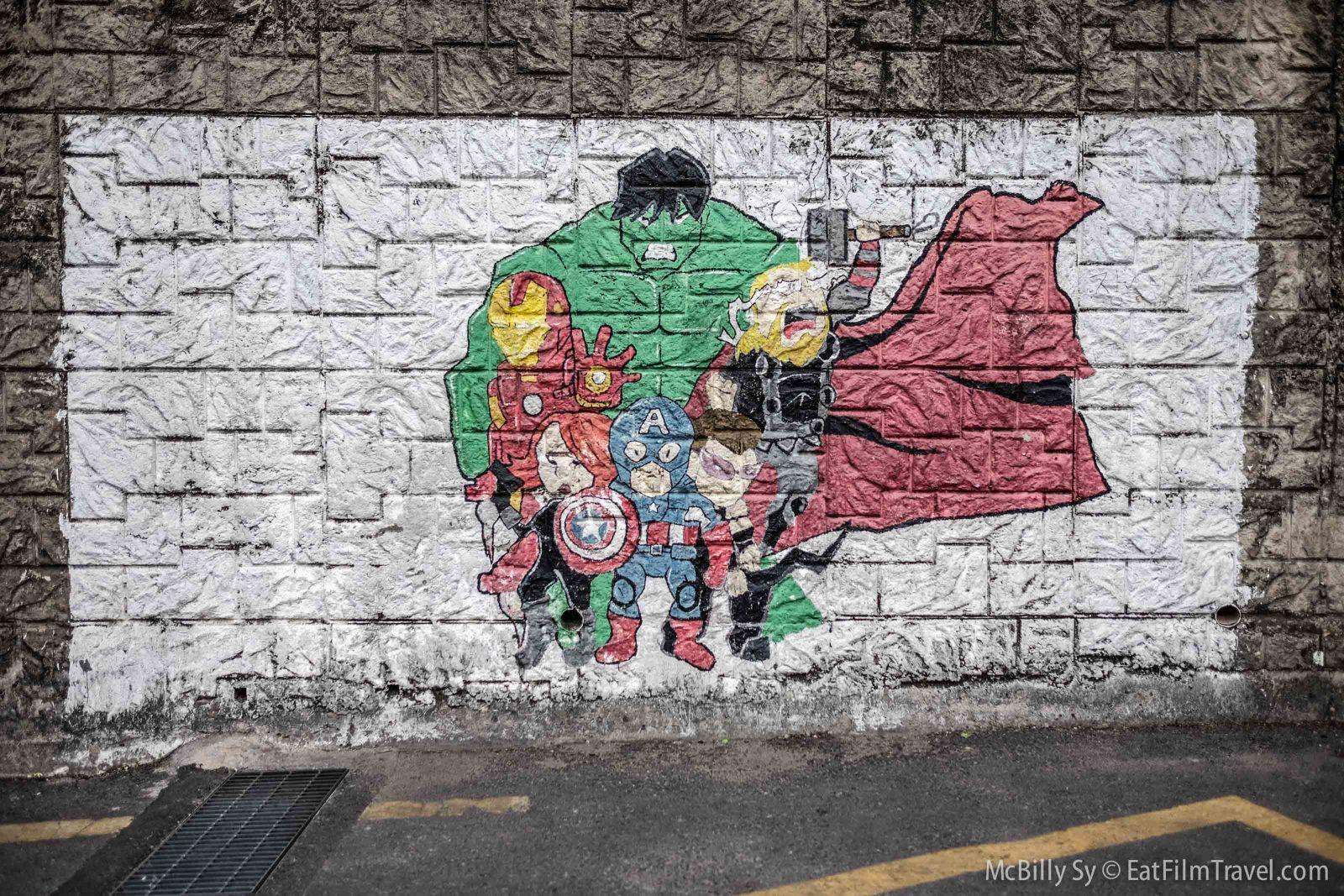 Marvel avengers mural
