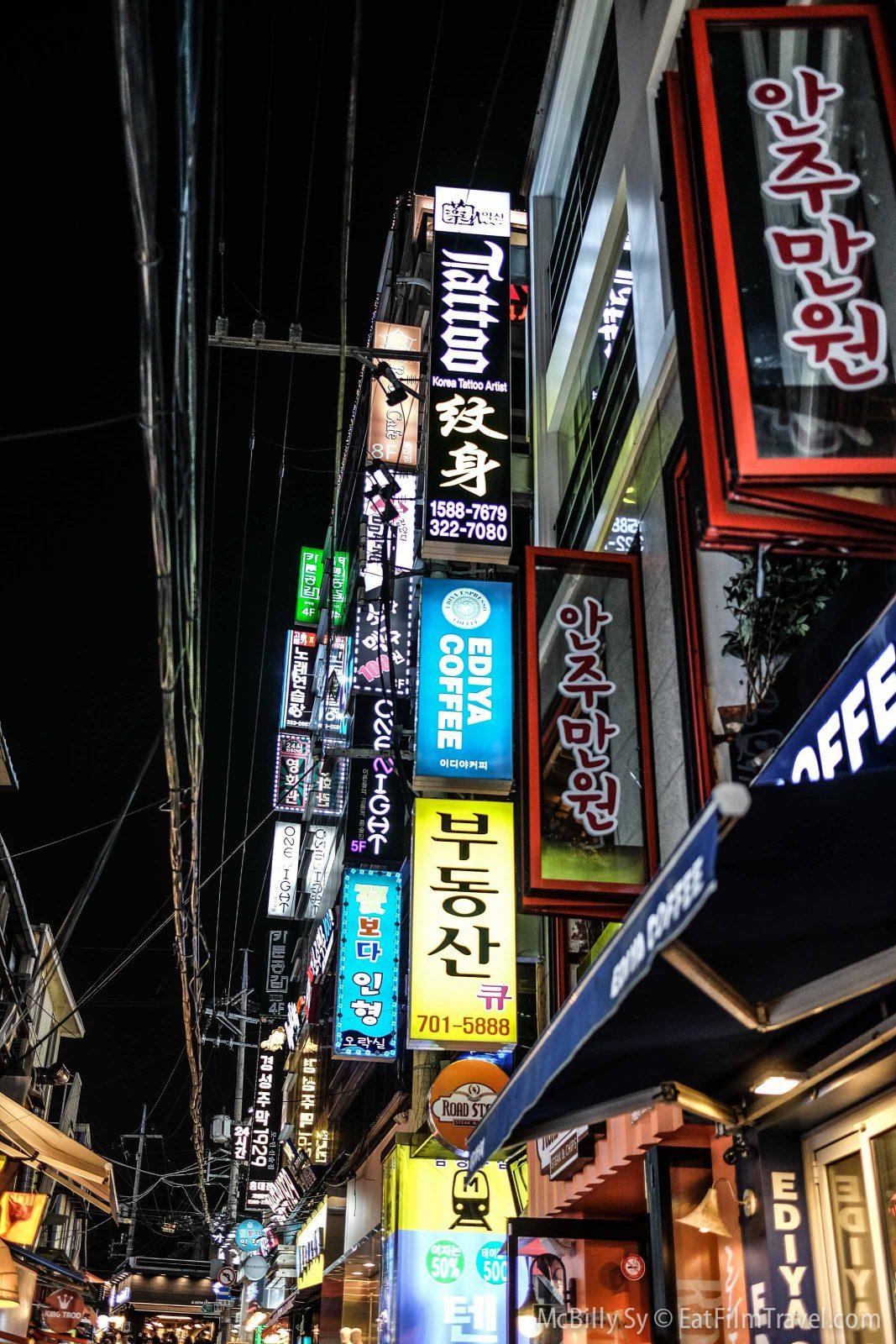 Bright lights Hongdae