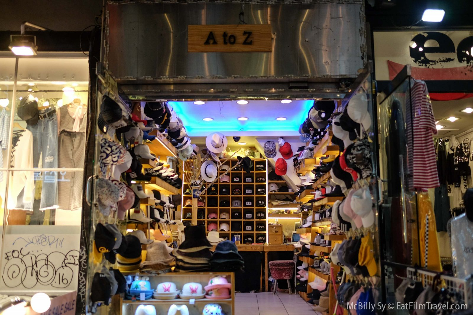 Small stores in Hongdae