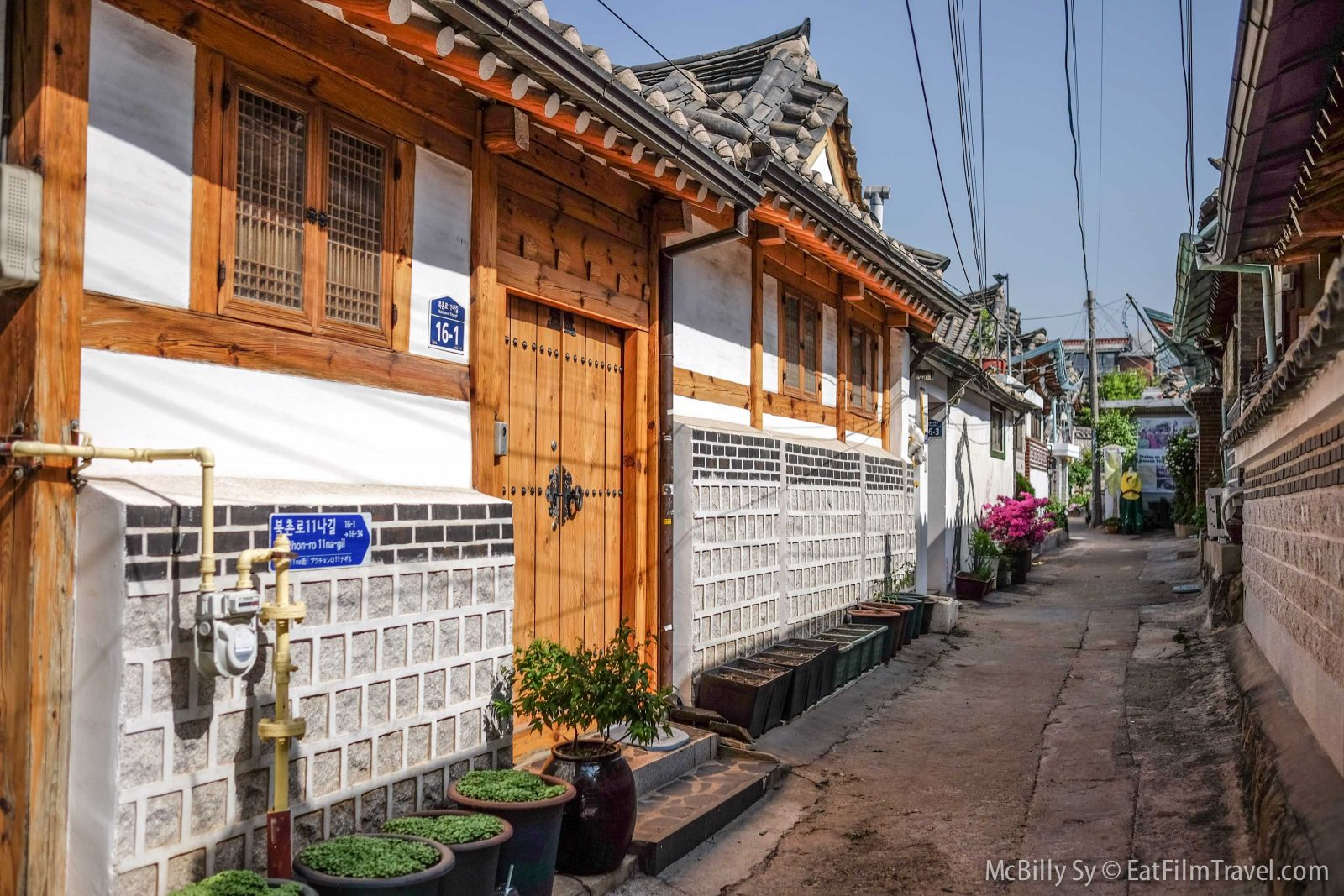 Beautiful traditional houses in Bukchon hanok village