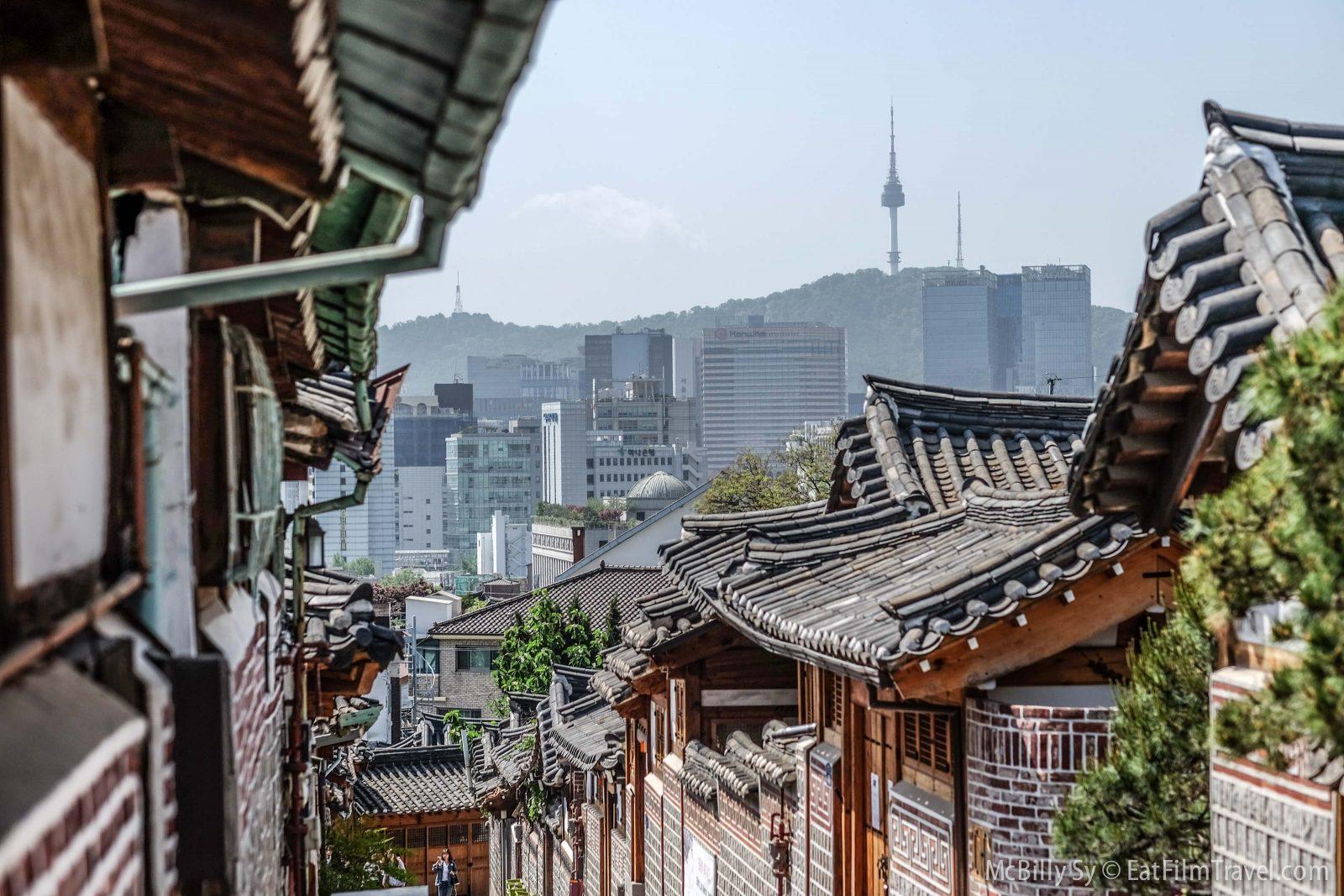 Bukchon Hanok Village in Seoul Korea