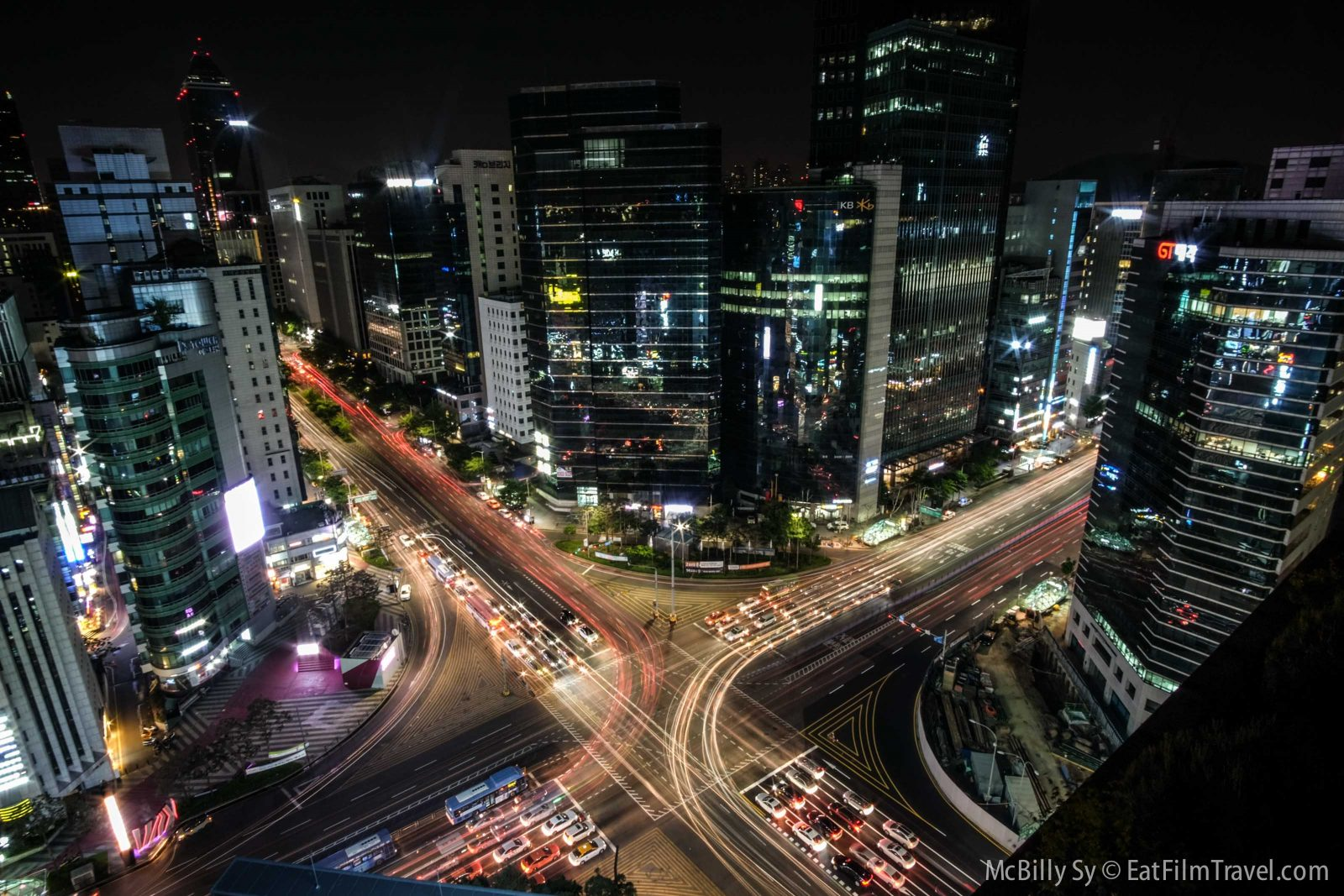 Timelapse of cars in Gangnam district