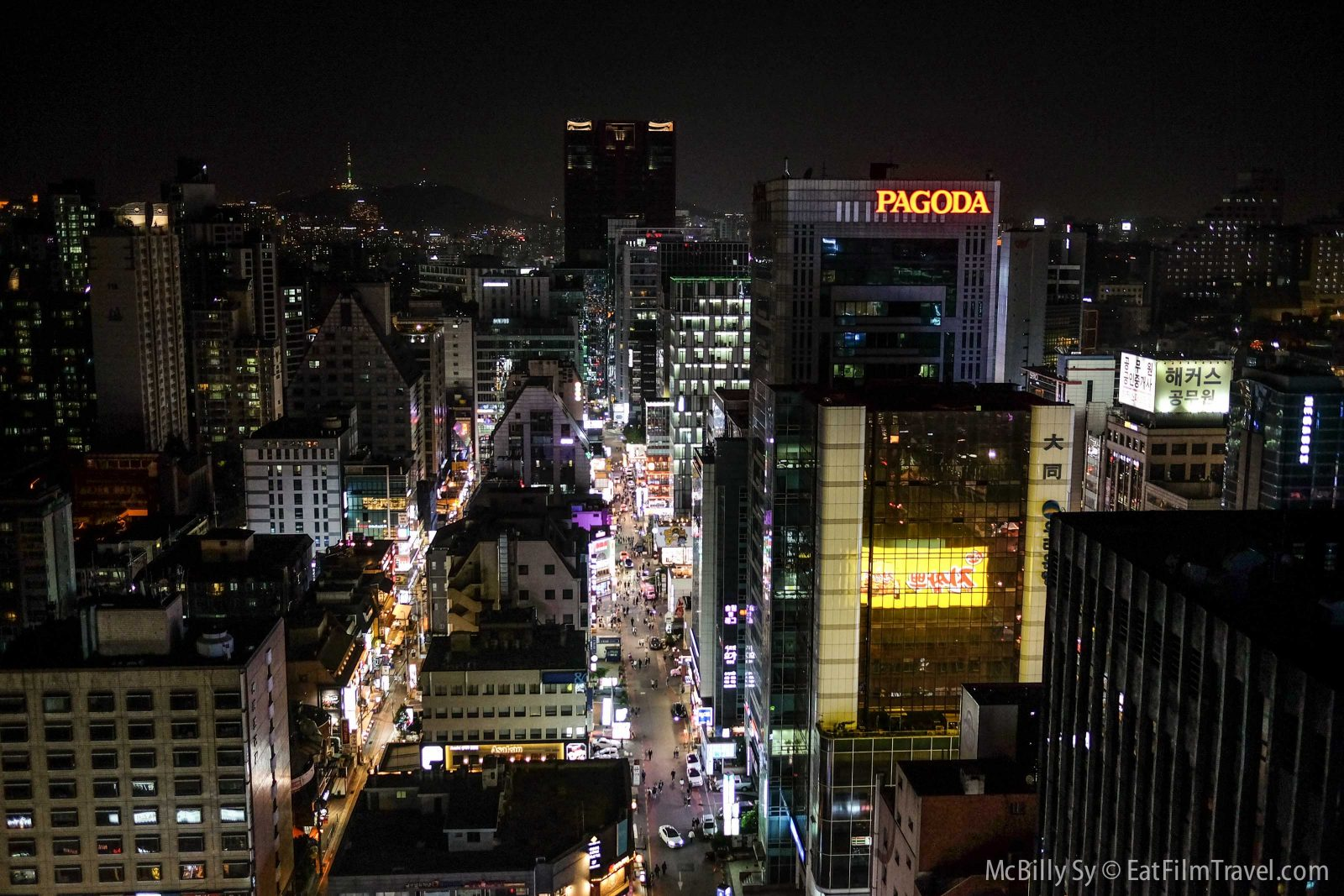 Seoul Korea from rooftop