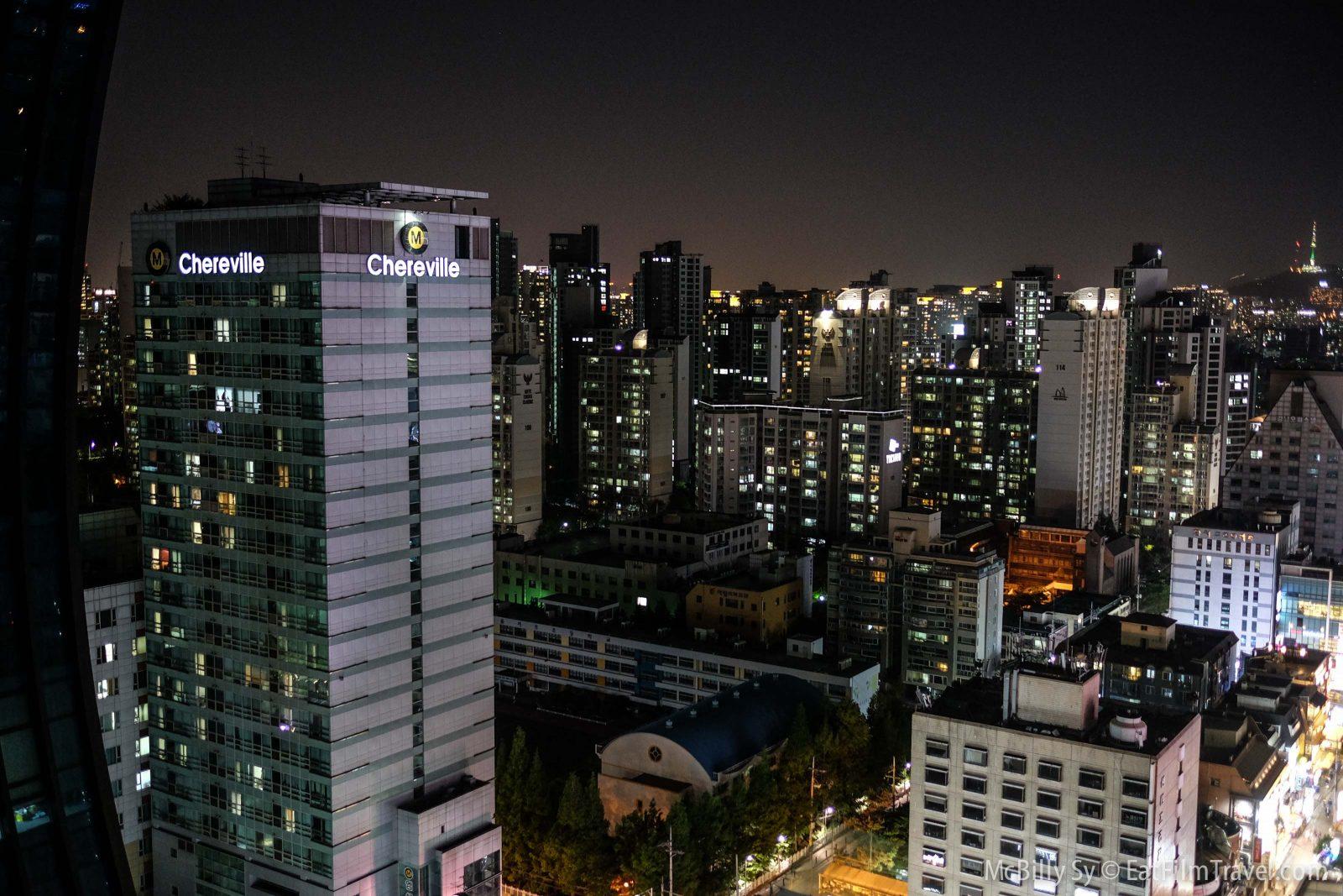 Very nice aerial views of Gangnam.