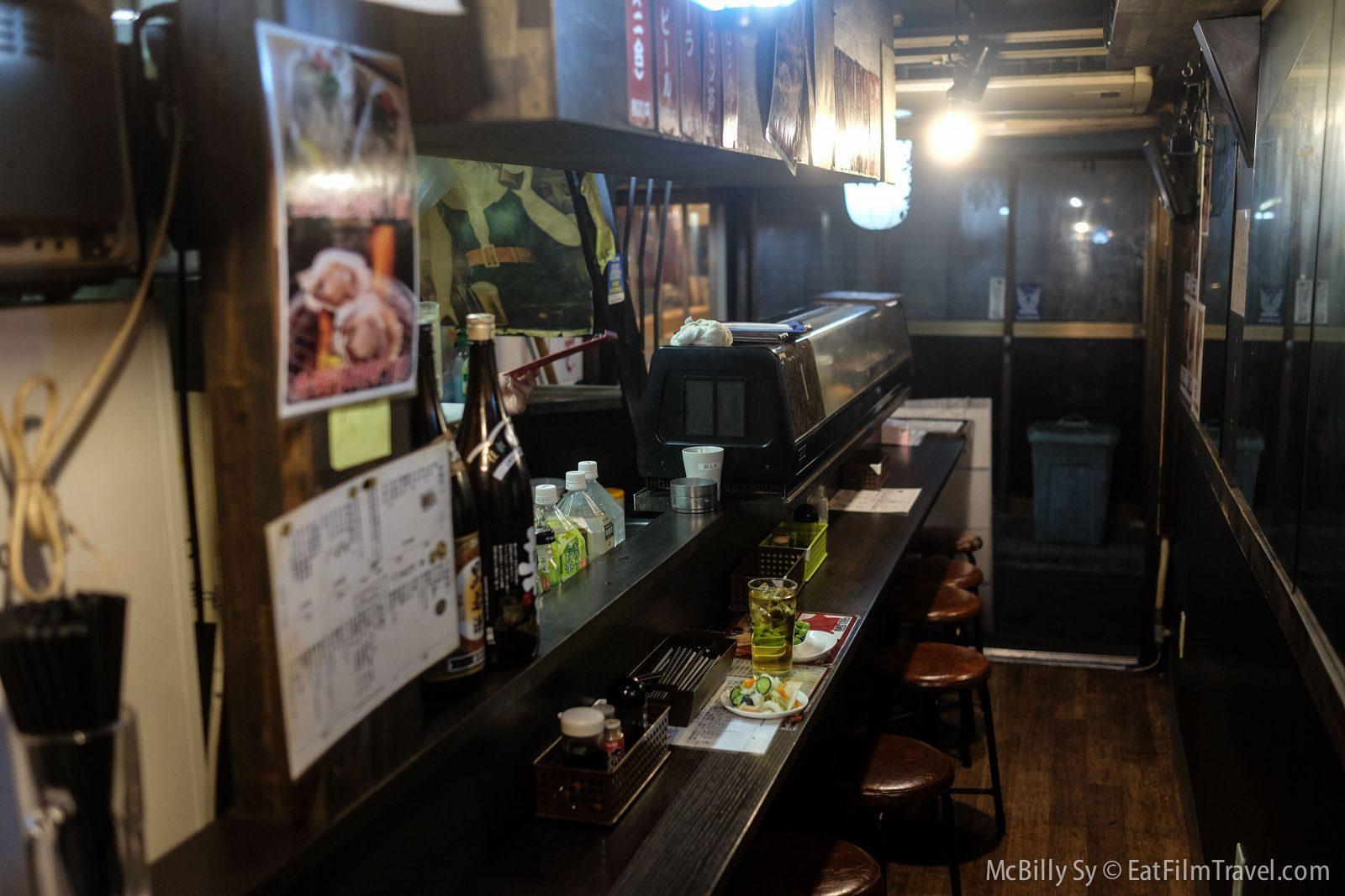 Interior of Yakitori restaurant