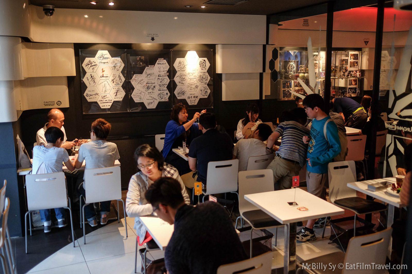 Gundam Cafe interior