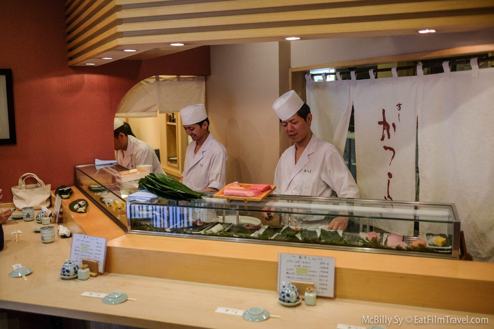 Sushi Katsura in Tsukiji Market