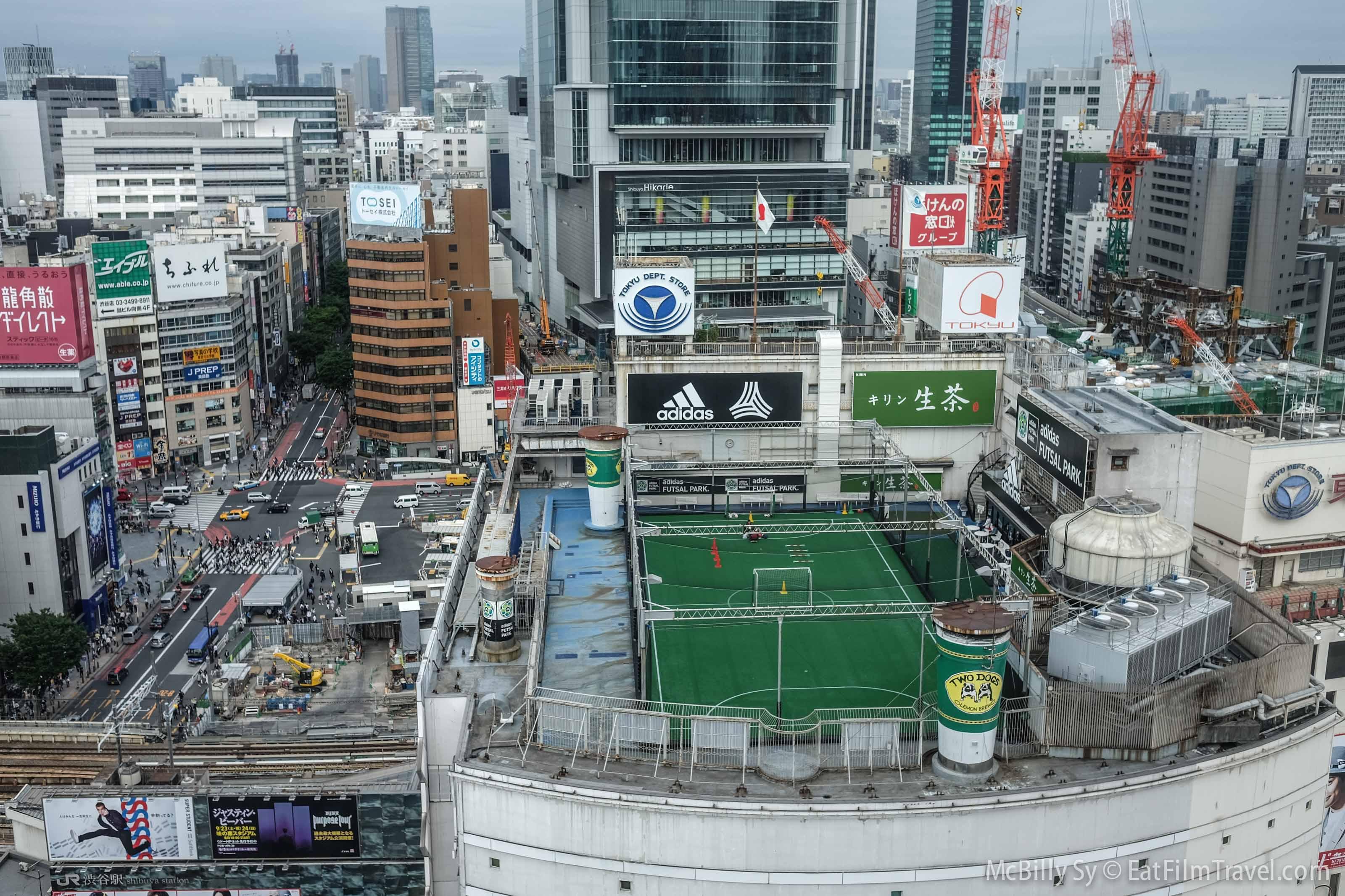 Shibuya Rooftop Soccer Eat Film Travel