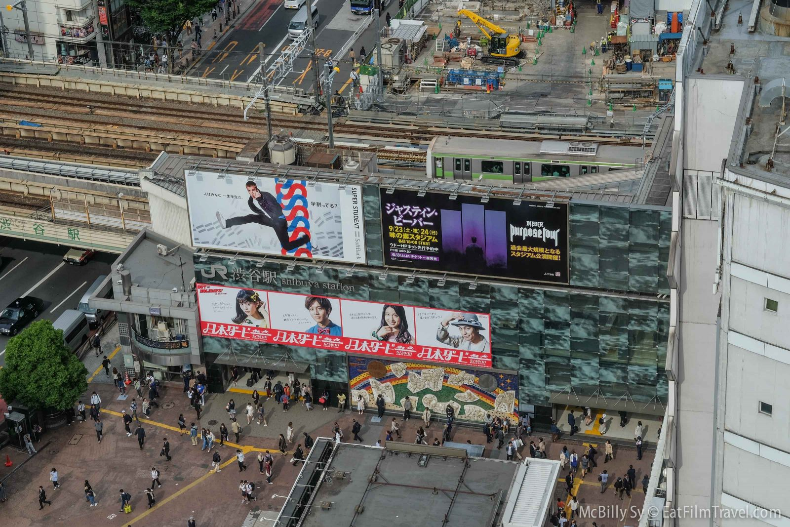 Shibuya aerial view